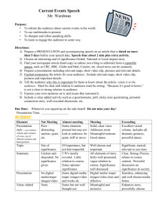 Microsoft Word - Current Events Speech and Rubric