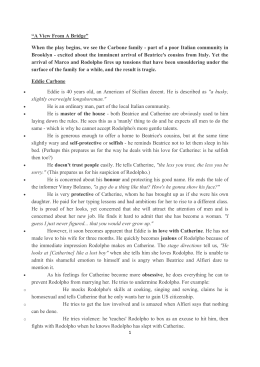 an analysis of a view from the bridge Character analysis of marco in a view from the bridge by arthur miller.