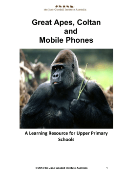 Great Apes, Coltan and mobile phones