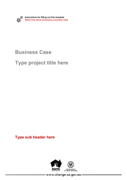 Business Case - Office for the Public Sector