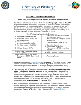 Clinical and Translational Science Institute PInCh 2015: Project