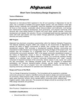 Short Term Consultancy-Design Engineers (3)