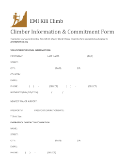 Climber Information & Commitment Form