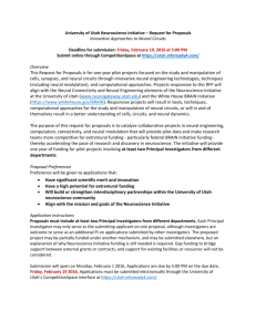 University of Utah Neuroscience Initiative – Request for Proposals