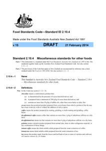 Food Standards Code—Standard ID 2.10.4