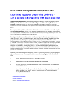 draft press release - Under the Umbrella