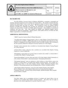 Psychiatry Residency Training Program Moonlighting Policy