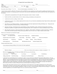 B Complex Pre-Injection Consent Form