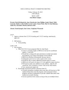 EDUCATIONAL POLICY COMMITTEE MEETING Friday, February
