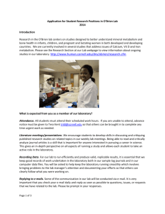 2015 O`Brien Lab Application - Cornell University College of Human