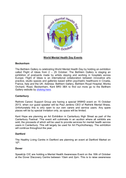 World Mental Health Day Events Beckenham The Bethlem Gallery is