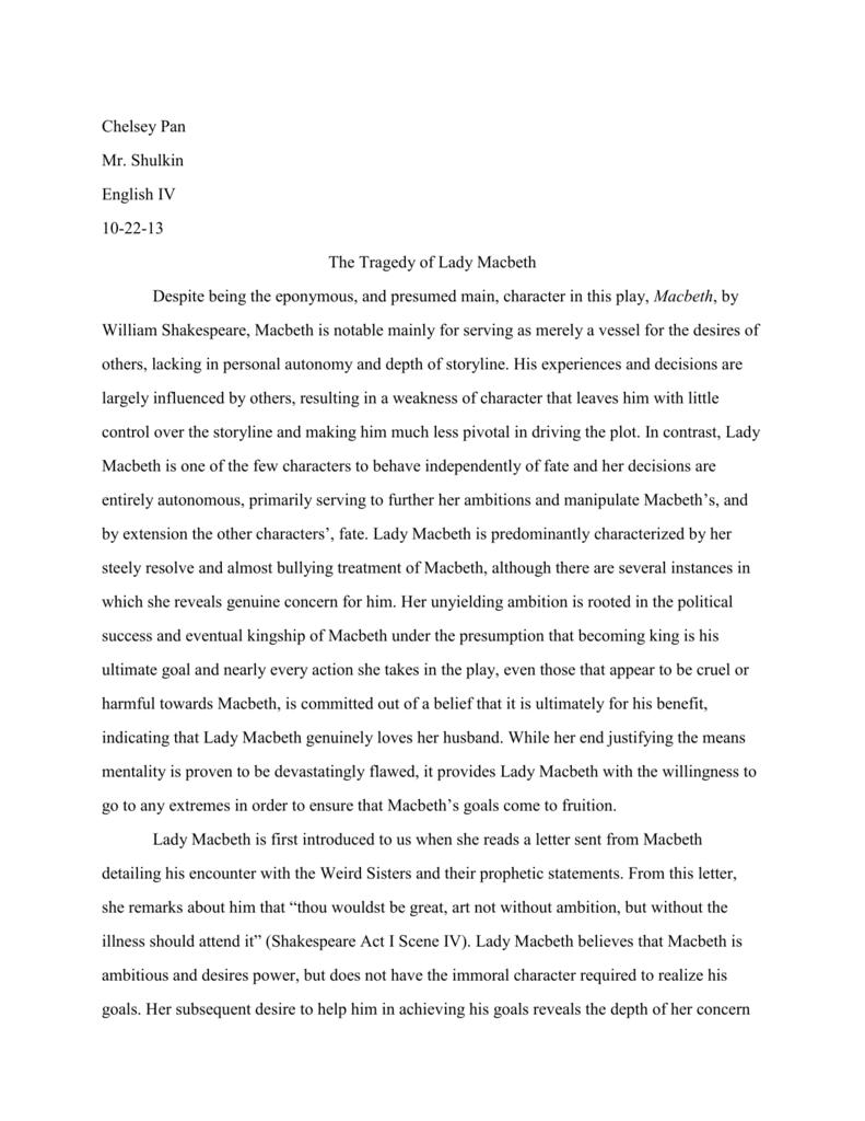 conclusion for lady macbeth essay