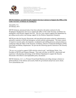 METIS Solutions Awarded Security Support Services Contract to