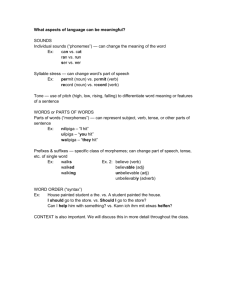 2015_DPHS_1_Worksheet_Levels of Linguistic Structure