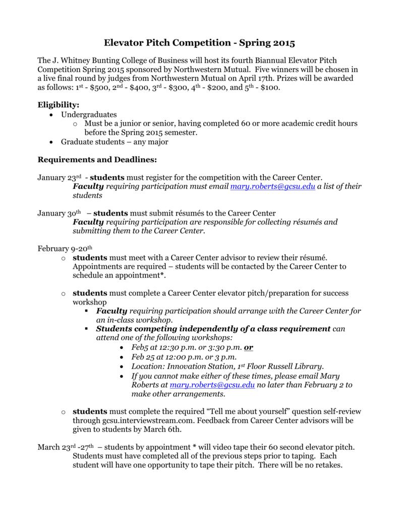 EPC Rules & Deadlines SP15R