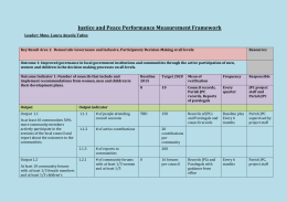 JPC Performance Measurement Framework