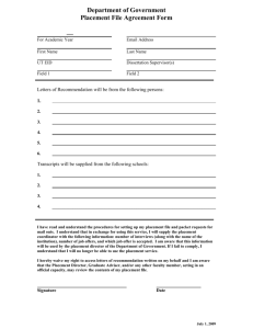 Department of Government Placement File Agreement Form ¾