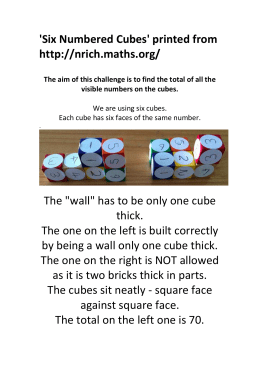 Six Numbered Cubes