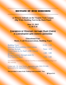 Mountains of Music Homecoming Events at Solitude