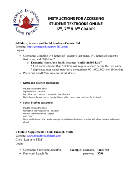 Instructions to access student textbooks online.