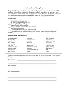 Modest proposal essay ideas