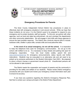 police department - Ector County Independent School District