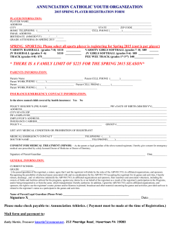 click here for 2015 Spring Sports Registration form