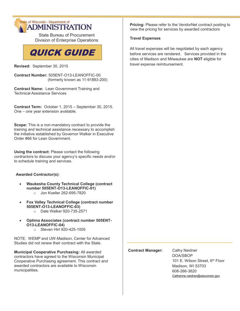1 Quick Start User Guide