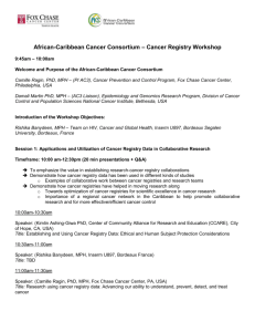 Cancer Registry Workshop - Caribbean Health Research Council