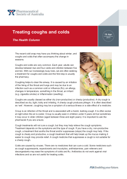 Treating coughs and colds - Pharmaceutical Society of Australia