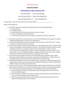 Stud Service Agreement for