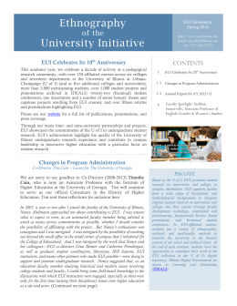 EUI Newsletter Spring 2014 - University of Illinois at Urbana