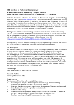 PhD position in Molecular Immunology