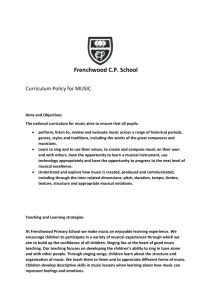 Music Policy : file - Frenchwood Community Primary School