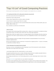 General good computing practices and tips that apply to most