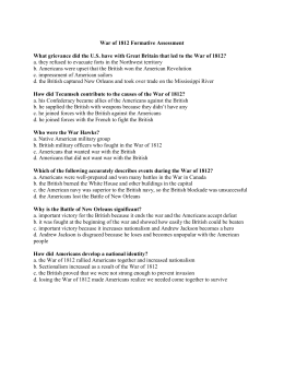 dbq 6 the war of 1812 answers