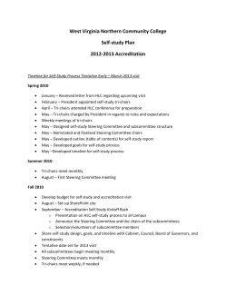 Self-study Plan - West Virginia Northern Community College