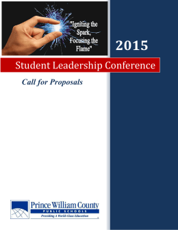 Student Leadership Conference - the Office of Professional Learning