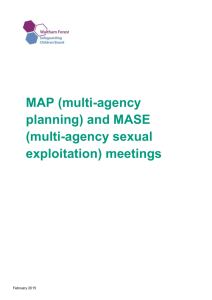 and MASE (multi-agency sexual exploitation)