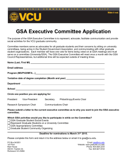 GSA Executive Committee Application
