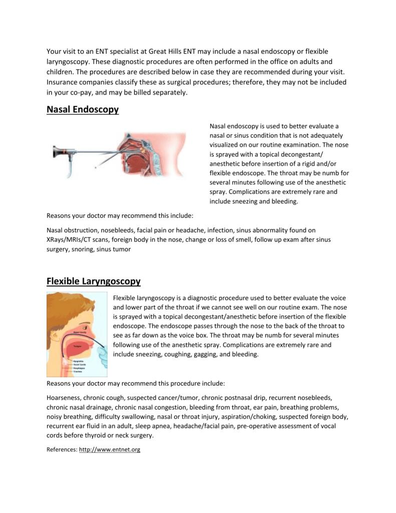 Nasal Endoscopy - Great Hills ENT