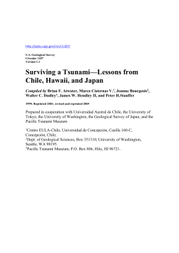 Surviving a Tsunami—Lessons from Chile, Hawaii, and