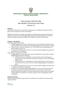 FWW-POL-003 Wet Weather and Extreme Heat Policy