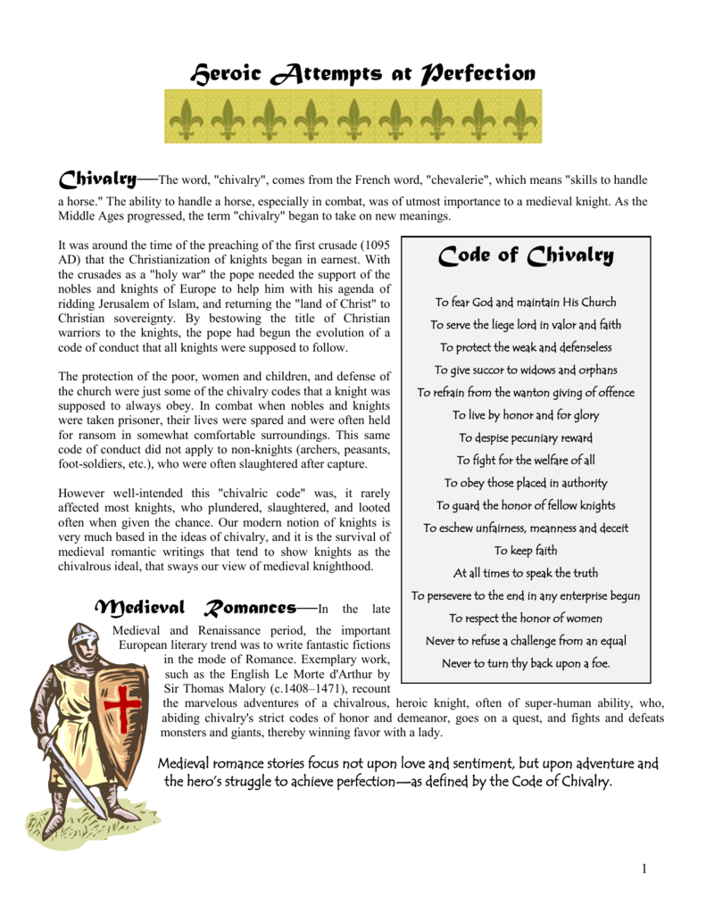 medieval knights code of conduct