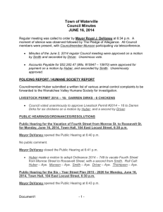 Town of Waterville Council Minutes JUNE 16, 2014