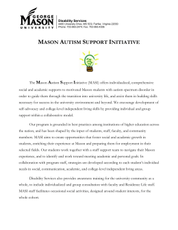 The Mason Autism Support Initiative (MASI) offers individualized