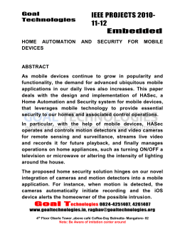 2011-12 IEEE Embedded system Project Abstracts
