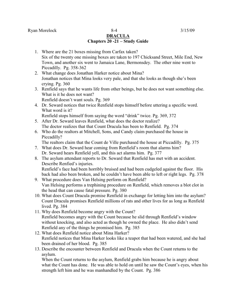 dracula study guide chapters 20 through 23 ryan lms english 8 rh studylib net dracula study guide questions and answers chapters 7-8 dracula study guide questions and answers chapters 5-6