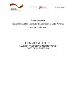 Project proposal format of the Regional Fund for Triangular