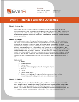 EverFi – Intended Learning Outcomes